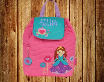 Personalized Stephen Joseph Quilted Backpack- Princess