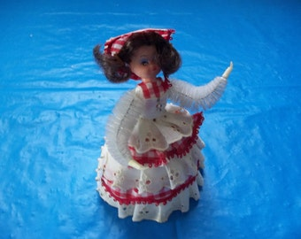 Pinflair Sequin Bead Doll hand Made From 1970's Emerald Jewel Kit FREE SHIPPING