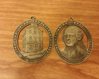Lancaster PA pewter pendents