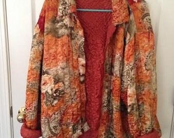 gorgeous vintage floral coat