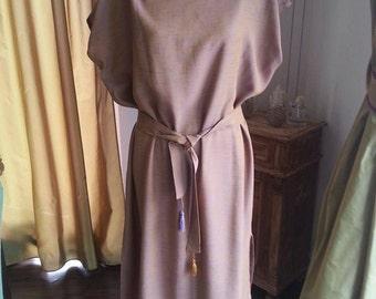 long tunic/ dress with belt