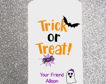 H1, Halloween Bag, School Treat Bag, Trick Or Treat Bag, Candy Bag, Candy Buffet, Candy Favor Bag, Treat Bag, Personalized bag, Buffet Table