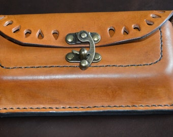 Hand Made Leather Bag ( Pouch ) for Belt