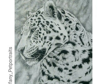 Beautyspot, Graphite Pencil Leopard Portrait.