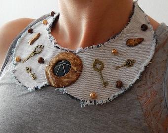 Jeans Necklace, Peter Pan Vintage Necklace, Collar Vintage Necklace, Vintage Bib Necklace, Vintage Jewellery, Detachable Collar