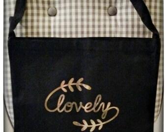 Lovely Canvas Messenger Bag
