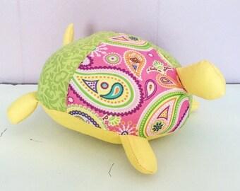 Baby Shower Turtle - Boho Baby Toy - Boho Baby Shower - Boho Nursery - Turtle Toy - Stuffed Animal Turtle - Floral Stuffed Turtle - Floral