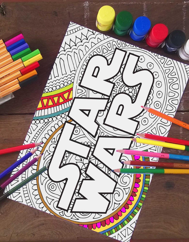 Star Wars Coloring Pages Star Wars Logo Printable Adult