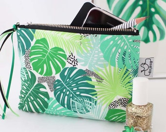 Tropical Zipper pouch with an original ANJESY design