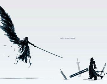 Final Fantasy Advent Children Anime Silk Wall Poster Custom Print