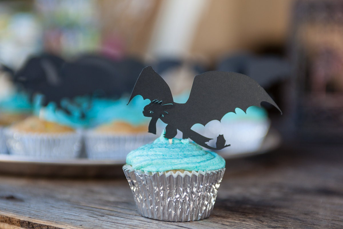 Dragon Cupcake Topper Toothless Toothless Dragon topper