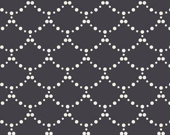 Ripples Black, MFL -11358, Millie Fleur Collection by Bari J for Art Gallery, Black fabric with white ripples, cotton, quilting fabric