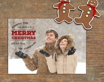 Merry Christmas, Holiday Card, Customizable, Printable