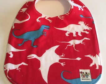 MAUD & MABEL - Handmade Baby Bib - Dinosaurs   **On Sale**