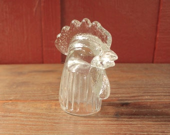 vintage glass chicken head