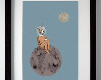 Space Travel, A4 Giclée Print, Outer Space Print, High Quality Print