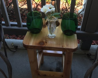 Wine Social Stool Table by D&C Designs