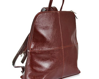 Simple Leather backpack VI