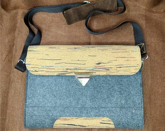"Felt laptop case,Shoulder strap bag,Cross Body Bag, 11""13""14"" 15 ""17"" laptop sleeve,Adjustable strap bag,Messenger bag strap,B5D8"