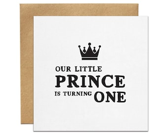Little Prince Printed Birthday Invitation | Made In Australia