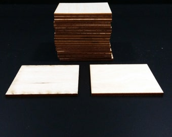 "Set of 20 Blank 2 1/2"" square 1/8"" thick wooden tiles"