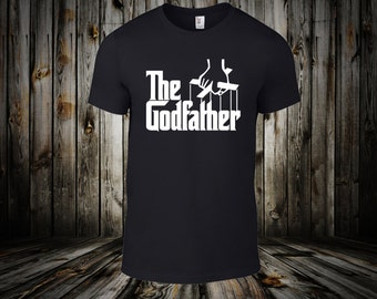 Godfather Graphic Tee- Perfect gift for your baby's special day.  Baptism Gift - Men's S,M,L,XL,XXL Free ship in US