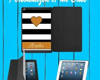 iPad Case iPad mini Case iPad Air Case Monogram iPad Case Monogram iPad Mini Case Monogram Black White Stripe case iPad mini 1 2 3 4