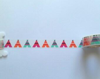 Teepee Washi Tape // Sample // Item #WT013