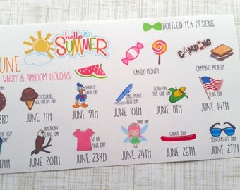 June Wacky & Random Holidays (Set of 16) Item #214