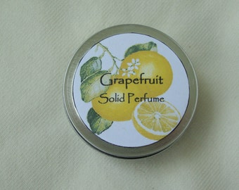 Grapefruit Solid Perfume, Perfume, Solid Perfume, Grapefruit Perfume, Fragrance