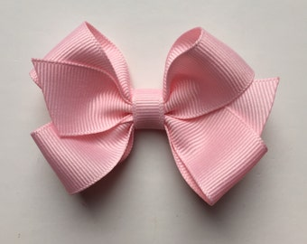 light pink hair bow clip baby pink hair bow baby pink hair