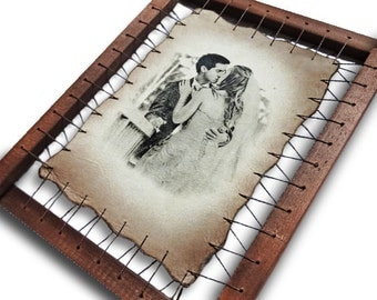 Wedding Photo Engraved On The Genuine Leather