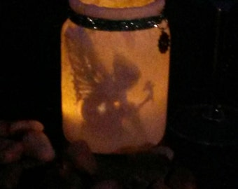 Fairy light, mason jar lantern,mason jar, fairy garden, lantern, candle holder, patio light, garden light, fairy lamp, night light