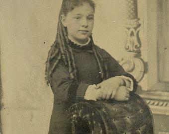 Tintype of smiling girl (529)
