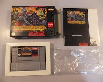 Super Ghouls N' Ghosts Original SNES Super Nintendo Vintage Video Game Complete