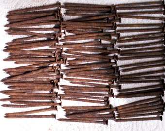 """2 1/2"""" Old Rusty Nails hand picked from my pile be straightest possible."""