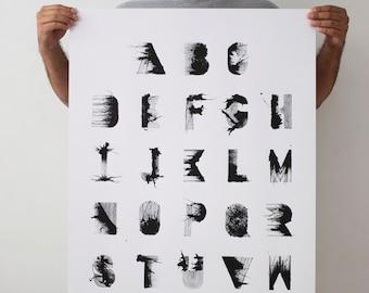 RS Bold - 24 x 36 Hand Printed Silkscreen Typographic Poster Print
