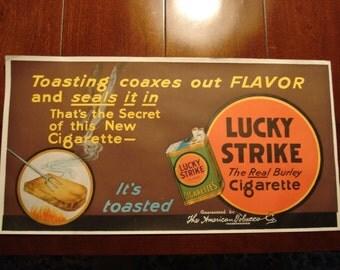 VINTAGE ADVERTISING POSTER for Lucky Strike