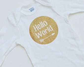 Hello World Baby Onesie
