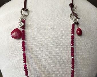JULY's RUBY - Birthstone Necklace