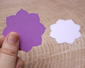 Purple Mandala Flower Die Cut - Card Making - Scrapbooking - Wedding