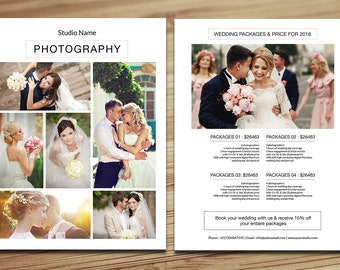 Wedding Photography Pricing Template | Photography Pricing Guide, Price List | Photoshop & Elements Template | Instant Download