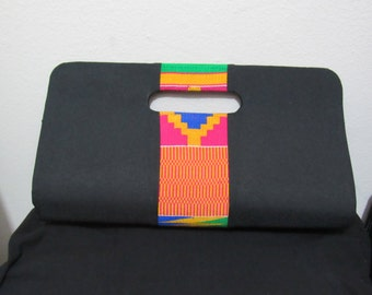 Ohema Handwoven Kente Clutch