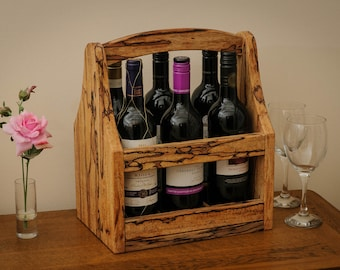 Spalted Beech Wine caddy, holder