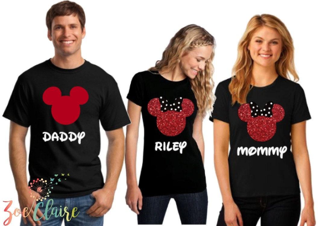 Mickey And Minnie Couples Shirts Disney Family Shirts M...