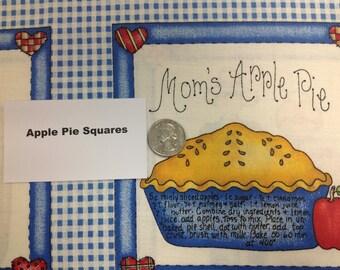 Apple Pie Recipe Fabric - 43 inches