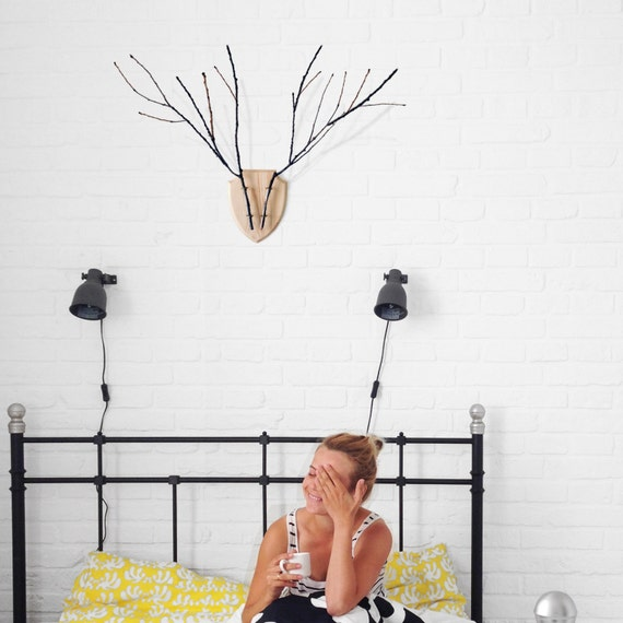 Home Décor for wall, Wooden Wall Vase, Wooden Holder for flowers and branches