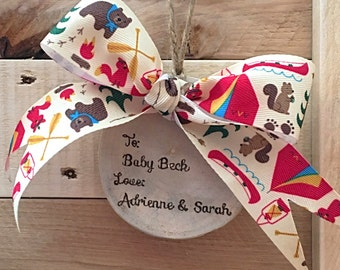 Personalized Gift tags - Customized Gift tags - Wood burnt by hand - with ribbon and twine hanger