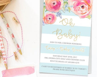 Chic Baby Shower Invitation