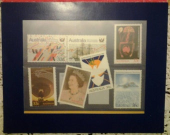 Gift set Selected Issues 1986, mint vintage australian postage stamps.